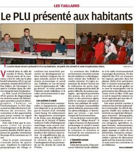 La Provence 02 02 2017 - PLU Taillades