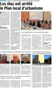 Vaucluse Matin du 14 03 2017 PLU Cavaillon
